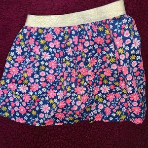 CARTER'S - cute floral skirt 4T skirt .  - $12